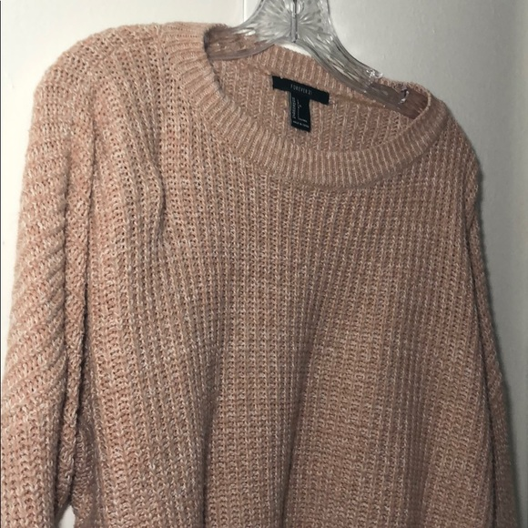 Forever 21 Sweaters - Light pink crop sweater
